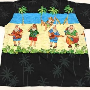 Rima Shirts - RIMA Santa Claus Christmas Aloha Hawaiian Shirt